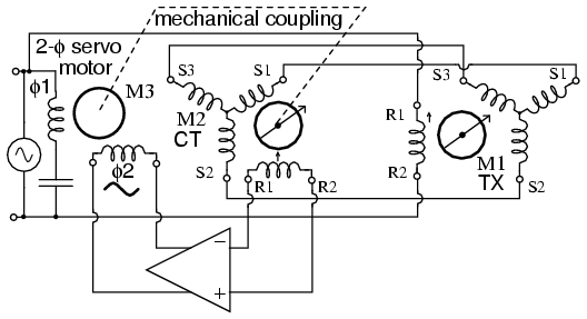 lessons in electric circuits volume ii (ac) chapter 13servo uses ct to sense antenna position null