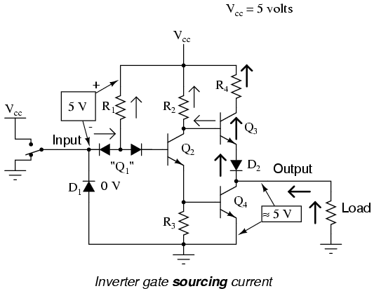 lessons in electric circuits volume iv digital chapter 3 rh malayalam net ttl logic gate circuit diagram nand logic gate circuit diagram